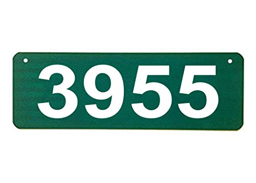 Horizontal Green 911 Sign with 4