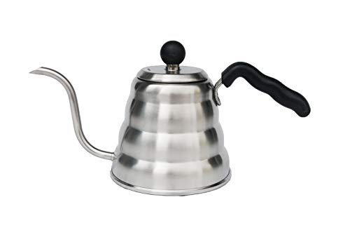 Mixpresso Gooseneck Pour Over Coffee Kettle Barista Pour Control Design Ideal for Coffee and Tea High-Grade Stainless Steel I 1.2 Liter 40 OZ I For Drip Coffee I Induction Cooker I Stove Top
