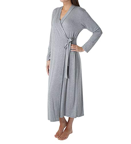 Shadowline Long Wrap Robe (61223) 1X/Heather Grey