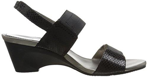 Bandolino Kvinners Comforte Stoff Kile Sandal Svart