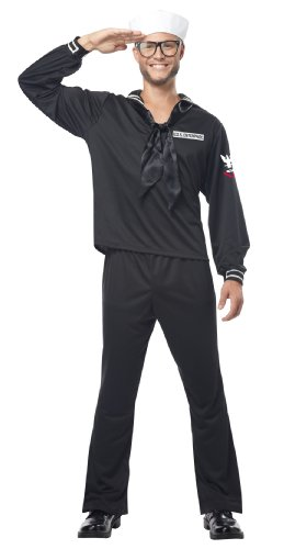 [California Costumes Navy, Black, Large Costume] (Male Sailor Costumes Halloween)