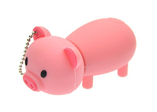 FEBNISCTE Cartoon Pink Pig 32GB USB 3.0 Flash Drive Memory Stick (Halloween College Stories)