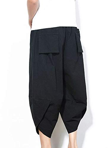 Lino Regular Negro Corte Verano Véneto Cómodo Para Largos Pantalones De Battercake Hombres Cómodos gZ7fwtWq