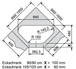 Franke Libera LIX 681-E Edelstahl-Sp/üle glatt Abwaschbecken K/üchensp/üle Auflage
