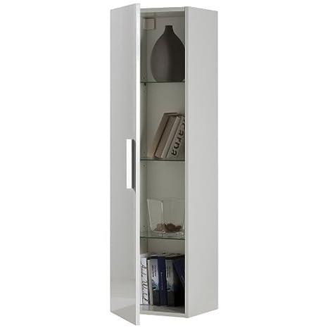 Composad Pensile colonna soggiorno colore laccato bianco: Amazon.it ...