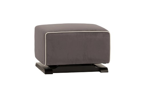 Babyletto Kyoto Ottoman, Slate Microsuede Fabric and Ecru Piping by babyletto