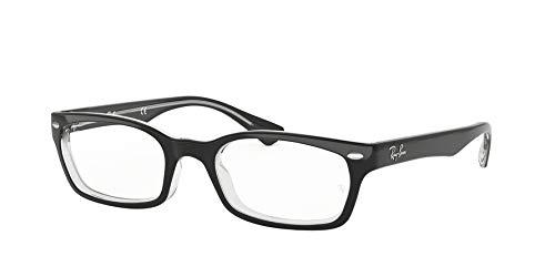 Ray Ban Optical Women's 5150 Black On Transparent Frame Plastic Eyeglasses, ()