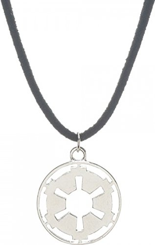 Star Wars Galactic Empire Cutout Necklace on Suede Cord (Star Wars Imperial Necklace compare prices)