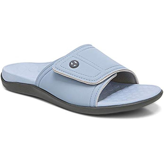 Vionic Kiwi Slide Sandal - Unisex Slide Sandal with Concealed Orthotic Arch Support