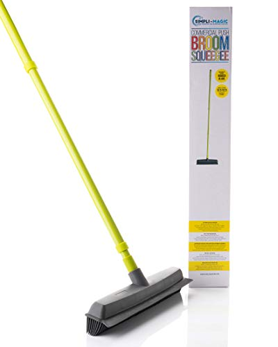 Simpli-Magic 79121 Floor Cleaning System, Push Broom - Squeegee - Pet Fur Remover, Yellow