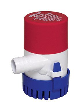 Rule 25S Submersible Bilge Pump, 500 Gallon Per Hour, 12 Volt DC, Automatic Electronic (500 Impeller)