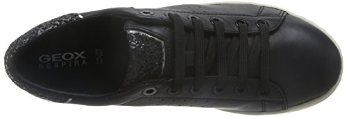 6 Womens Shoes Jaysen D Trainers Geox Leather Black A Nappa q6zWU