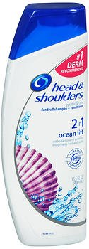 Head & Shoulders 2 in 1 Dandruff Shampoo + Conditioner, Ocean Lift 14.20 oz (Pack of 3)