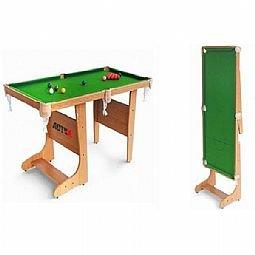 Tavolo Da Biliardo Richiudibile.Tavolo Da Biliardo Pieghevole 4 121cm Amazon It Sport E Tempo