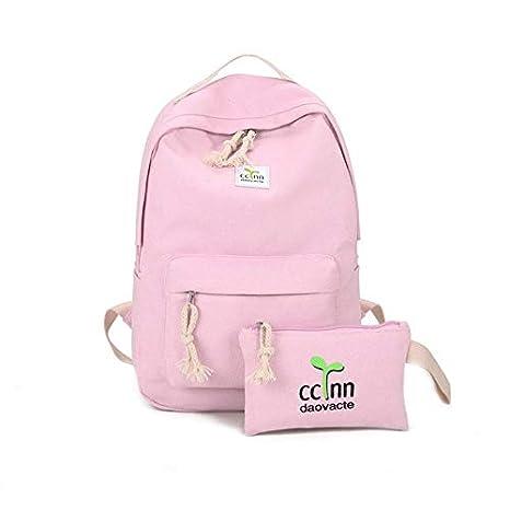 3c4e6373d5 2PCS Set Fashionable Design Women Canvas Backpack Casual Teenage Girls  Students School Bag Travel Shoulder Bag  Amazon.ca  Luggage   Bags