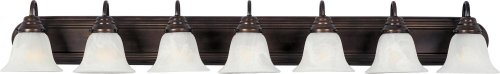 Maxim 8016MROI Essentials in Oil Rubbed Bronze Finish - Damp Rated Vanity Lights - 7 Lightings Lamp Set. Wall Lighting