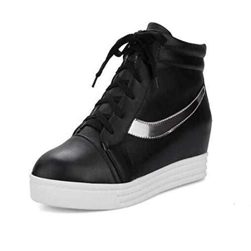Cerrado del Zapatillas Dedo PU pie Invierno Otoño Heel Negro Rojo Blanco Confort Zapatos Mujer Planas ZHZNVX White y de Poliuretano qx7ggRn