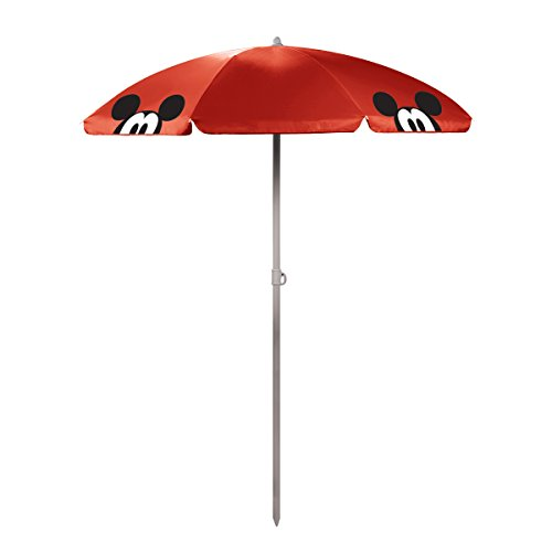 Disney Classics Mickey Mouse 'Outdoor Canopy Sunshade Umbrella' 5.5', Red