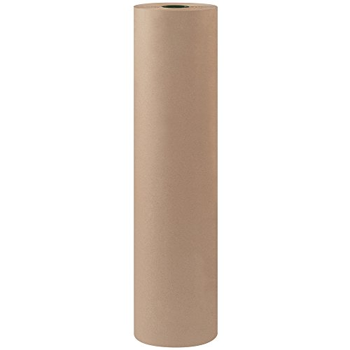 Aviditi KPB3660 Fiber Bogus Kraft Paper Roll, 900′ Length x 36″ Width, Gray