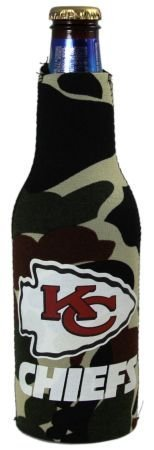 (KANSAS CITY CHIEFS CAMO BOTTLE SUIT KOOZIE COOLER)