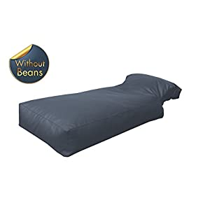 Second May Bean Bag Daybed Faux Leather Grey