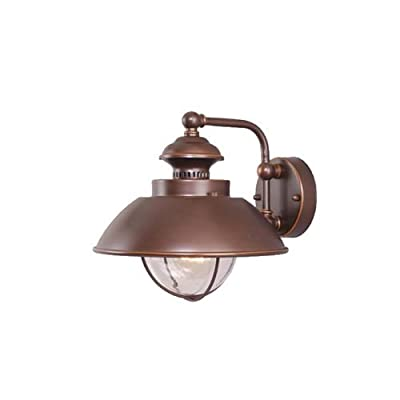 Vaxcel OW21501BBZ Harwich 10-Inch Outdoor Wall Light, Burnished Bronze - One Light Outdoor Wall Light from the Harwich collection Height: 10.25 inches Width: 10.00 inches Style: traditional light Type: outdoor wall - patio, outdoor-lights, outdoor-decor - 31r0xHcopJL. SS400  -