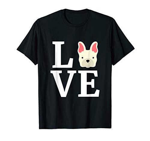 French Bulldog T Shirt Love Frenchie Dog Tee Dog Lovers Gift Bulldog Womens Pink T-shirt