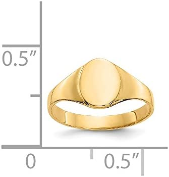 14k Yellow Gold Oval Baby Signet Band Ring Size 1.00 Fine Jewellery For Women Gifts For Her