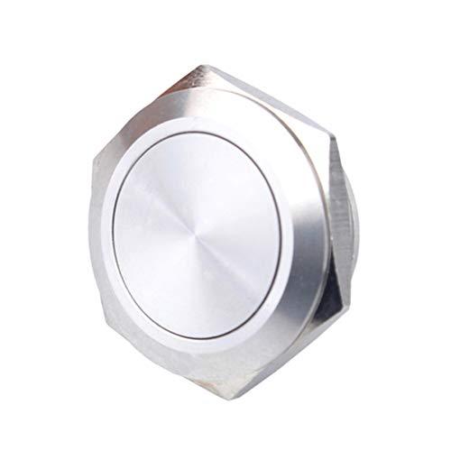 防水 プッシュボタンスイッチ 25mm リセット可能 1NO ステンレス