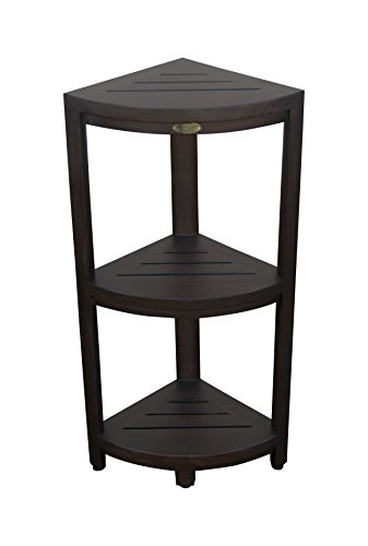 Decoteak Oasis 3-Tier Teak Corner Shower Shelf