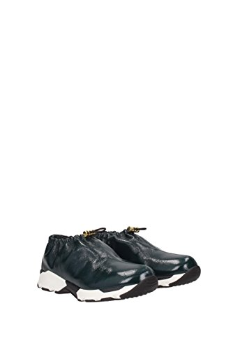 Sneakers Green Leather Patent UK Women SNZWV01G02LV342 Marni dq1pxWnW