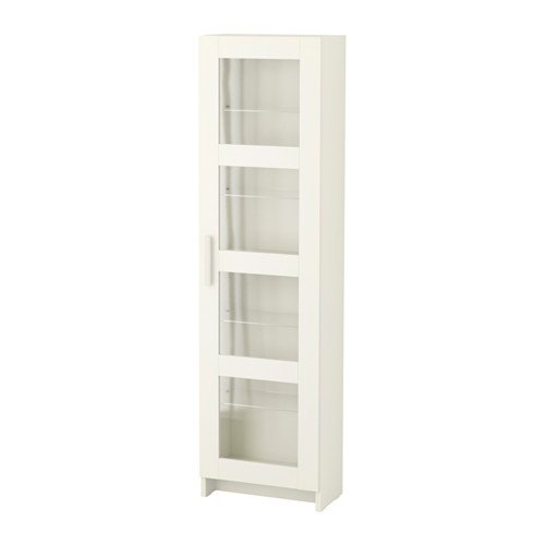 Ikea Wooden Glass Cabinet (White)