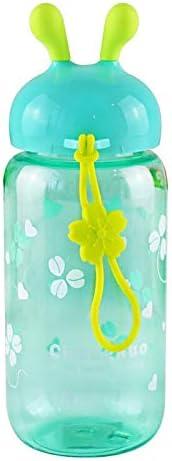 ZYLL 450 Ml Nuevo Plástico De Conveniencia Deportes Botellas De Agua Amantes Vehículo General A Prueba De Fugas Botella De Agua De Oreja De Conejo
