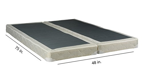 4-inch Fully Assembled Split Box Spring For Mattress, 48 x 75 inch by Continental Sleep