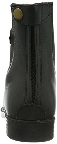 Kerbl Schnürstiefelette Monaco Glattleder  Unisex-Erwachsene Reitsportschuhe Schwarz (schwarz; 19-0303)