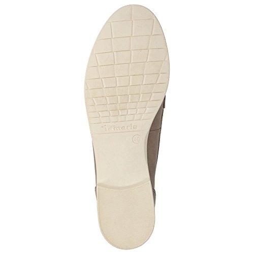 Tamaris Damen Schuhe Freizeit Lack Slipper Sommer Freizeit Bootsslipper Slip-On Beige