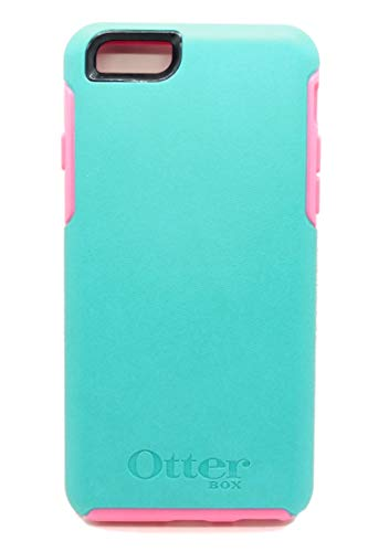 OtterBox SYMMETRY SERIES Case for iPhone 6/iPhone 6s - Retail Packaging - TEAL ROSE II (LIGHT TEAL/BLAZE PINK) (Outter Box Case For Iphone 6s)