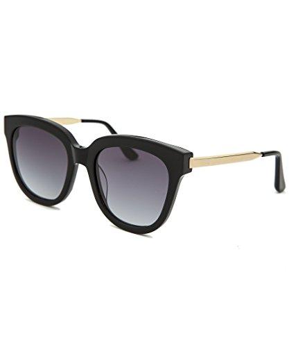 AQS Womens Piper Sunglasses (Black/Gold, - Sunglasses Aqs