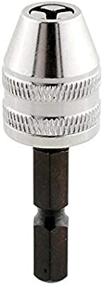 """1//4/"""" 6mm Hex Shank Keyless Drill Bit Chuck Adapter Converter Quick Change Tool"""
