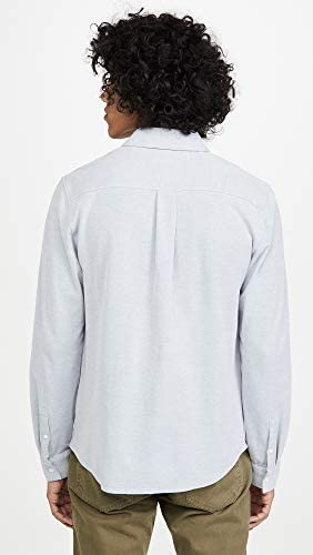 Vince Men's Longsleeve Button Down Shirt, Windmill, Blue, X-Large