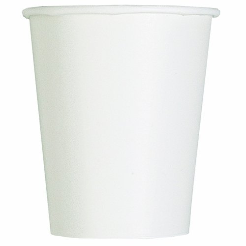 Fun 9 Ounce Cups - 9oz White Paper Cups, 14ct