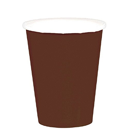 Brown Paper Cups (Chocolate Brown Paper Cups | 9 oz. | Pack of 20 | Party)