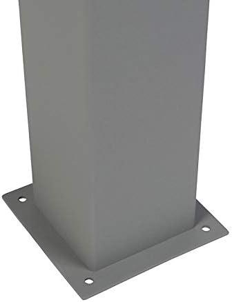 QAZQA Modern Moderne Au/ßen Wandleuchte grau IP44 1 x 13 Watt D/änemark//Au/ßenbeleuchtung Aluminium//Kunststoff Quadratisch//Rechteckig LED geeignet E27 Max