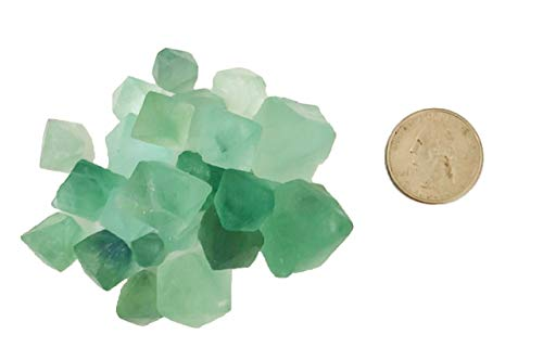 (1/4 Pound Green Fluorite Octohedrons - Rough Minerals Crystals)