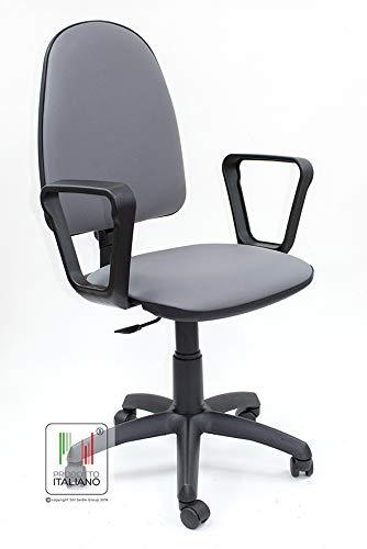 Sedie Per Scrivania.Stil Sedie Sedia Girevole Videoterminalista Ufficio Scrivania Cameretta In Ecopelle Grigio Scuro