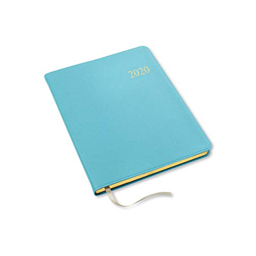 2020 Gallery Leather Large Weekly Planner Key West Turquoise 9.75