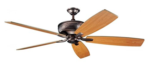 Oil Brushed Bronze 70In. Indoor Ceiling Fan With 5 Blades - Includes Cool-Touch Remote 8In. Downrod