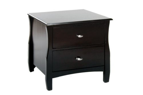 Furniture of America Aristo 2-Drawer Nightstand, Espresso