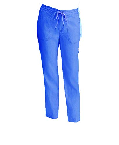 (Lauren Ralph Lauren Women's Straight Linen Pants (Blue, 6))