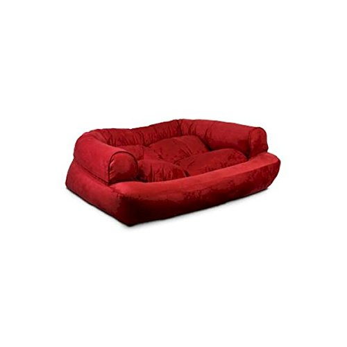 Snoozer Overstuffed Luxury Pet Sofa, Large, Pink by Snoozer